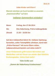 Indianer Sommerfest 2014
