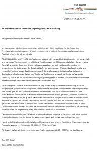 Elternbrief GVS GmbH