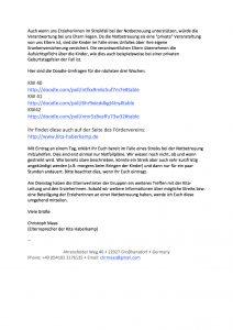 Mail von unserem Elternsprecher Christoph Maas