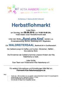"""Herbstflohmarkt """"Rund ums Kind"""" 2018"""
